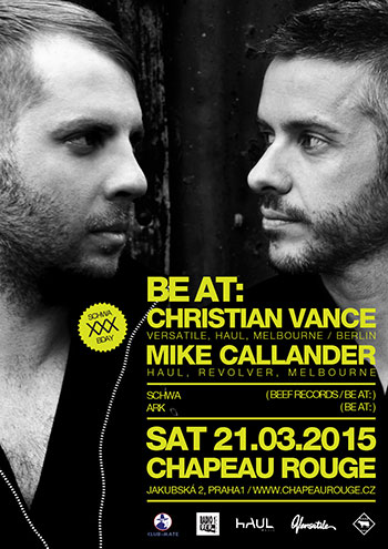 BE AT: Christian Vance + Mike Callander